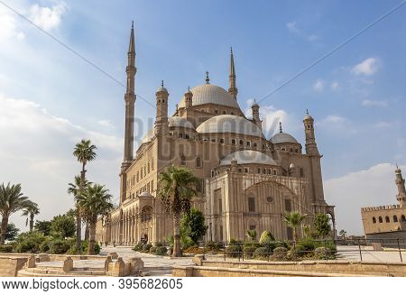 The Great Mosque Of Muhammad Ali Pasha Or Alabaster Mosque Situated On The Summit Of The Citadel, Th