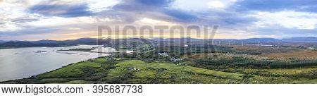 Aerial View Of Cashelgolan In County Donegal - Ireland