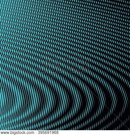 Vector Abstract Blend Background Of Lines In Trendy Color 2021 Tidewater With Moire Effect. Contempo