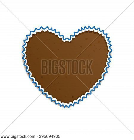 Traditional Gingerbread Heart Of Oktoberfest Isolated On A White Background