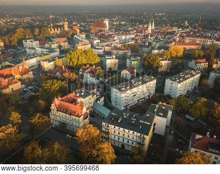 Aerial View Of Olesnica. Olesnica, Lower Silesia, Poland.