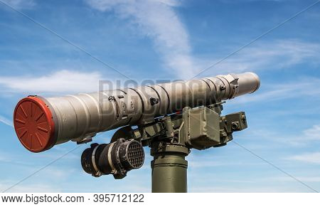 Anti-tank Guided Missile On The Turret Of A Tank Or Infantry