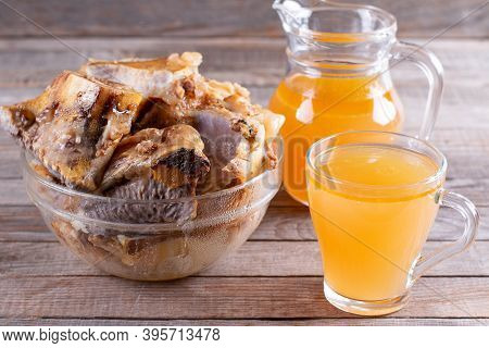 Super Healthy Collagen. Bone Broth Source Of Collagen, Bouillon On The Table