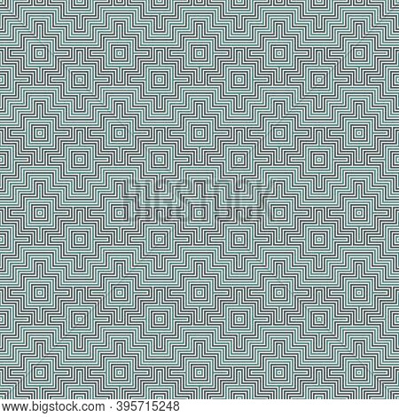 Chakana Inca Crosses Seamless Pattern. Ethnic Embroidery Print. Ornamental Folk Wallpaper. Native Am