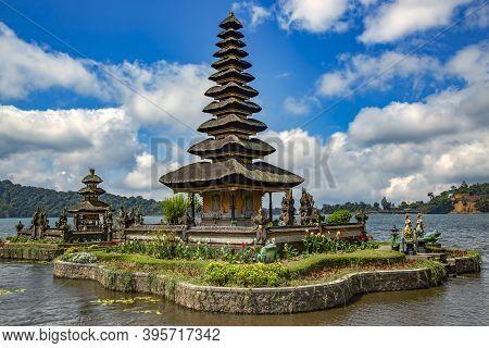 Beautiful Pura Ulun Danu Batur Is A Temple In Bali Situated On Lake Beratan High Up In A Crater Of A