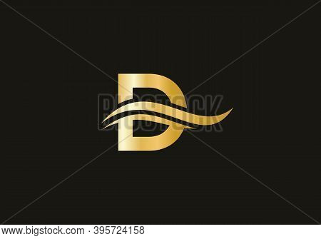 D Logo Design. D Modern Creative Unique Elegant Minimal. D Initial Based Letter Icon Logo.