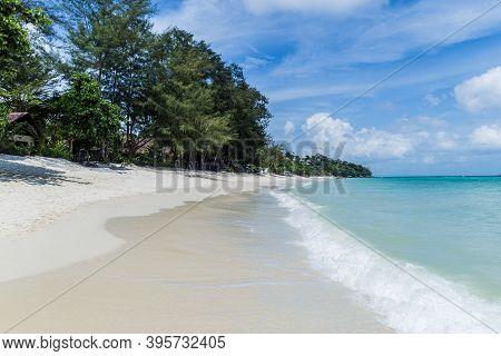 Exotic Desert Beach In Ko Phi Phi. Krabi, Andaman Sea, Thailand