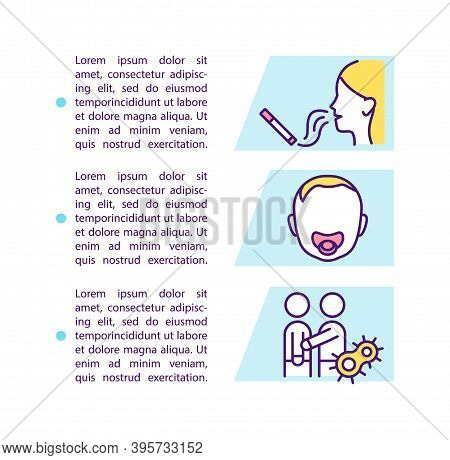 Sore Throat Risk Factors Concept Icon With Text. Future Problems After Fever. Getting Strong Pain. P