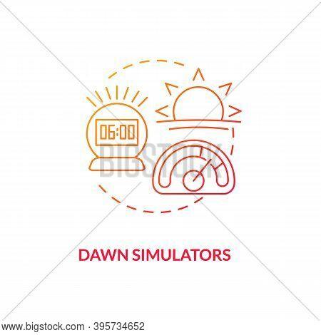 Dawn Simulators Concept Icon. Tips To Ease Sad Idea Thin Line Illustration. Slowly Increasing Light