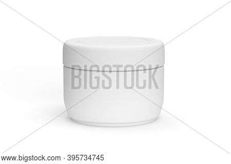 Cosmetics Jar Mockup Isolated On White Background - 3d Render