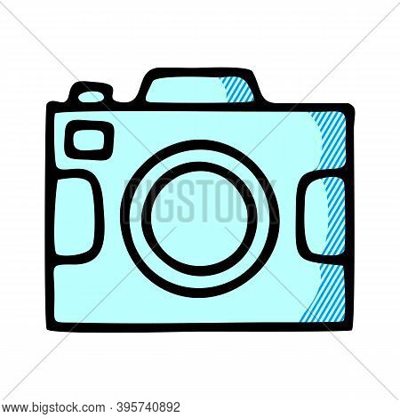 Photo Camera Icon Isolated On White Background From Men Item Collection. Photo Camera Icon Trendy An