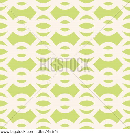 Vector Mesh Seamless Pattern. Texture Of Net, Lace, Weaving, Lattice, Smooth Grid, Wavy Shapes. Simp