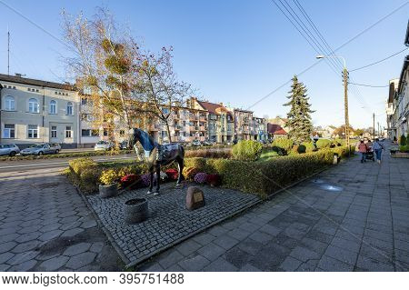 Jastrowie, Wielkopolskie / Poland - November, 20, 2020: Monument And Symbol In A Small Town. Symbol
