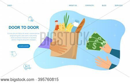 Food Delivery Service Concept. An Easy And Convenient Way To Track Your Gastronomic Order Online. We