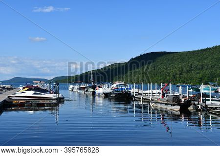 Cooperstown, Ny - Jul 24: View Of Otsego Lake From Lakefront Park In Cooperstown, New York, As Seen