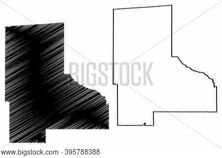 Jefferson Davis County, Mississippi (u.s. County, United States Of America, Usa, U.s., Us) Map Vecto