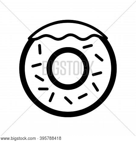 Donut Icon Isolated On White Background From Bakery Collection. Trendy And Modern Donut Symbol For L