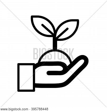 Hand Carrying Plant Seed Best For Planting Icon Isolated On White Background From Spring Collection.