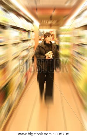 Shopping In Grocery Store