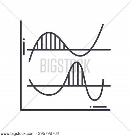 Divergence Icon, Linear Isolated Illustration, Thin Line Vector, Web Design Sign, Outline Concept Sy