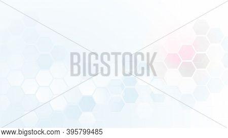 Abstract Technology Digital Hi-tech Hexagons Concept Background. Vector Illustration