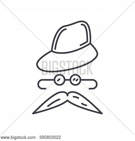 Disguise Icon, Linear Isolated Illustration, Thin Line Vector, Web Design Sign, Outline Concept Symb