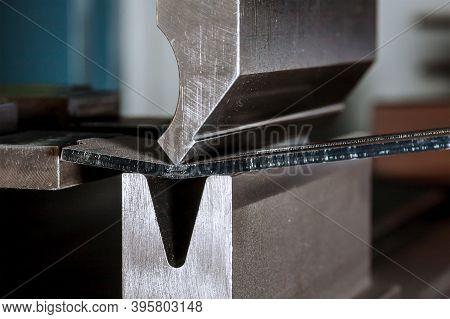 Bending Sheet Metal On A Bending Machine