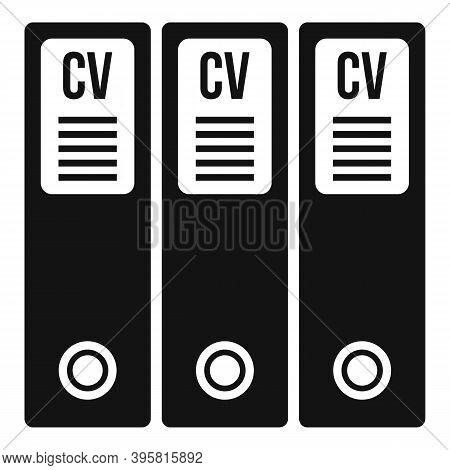 Cv Folders Icon. Simple Illustration Of Cv Folders Vector Icon For Web Design Isolated On White Back