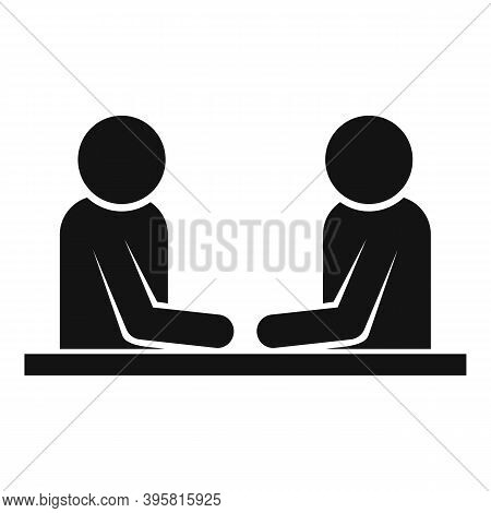 Headhunter Interview Icon. Simple Illustration Of Headhunter Interview Vector Icon For Web Design Is