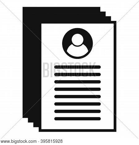 Headhunter Documents Icon. Simple Illustration Of Headhunter Documents Vector Icon For Web Design Is