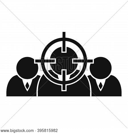 Workforce Target Icon. Simple Illustration Of Workforce Target Vector Icon For Web Design Isolated O