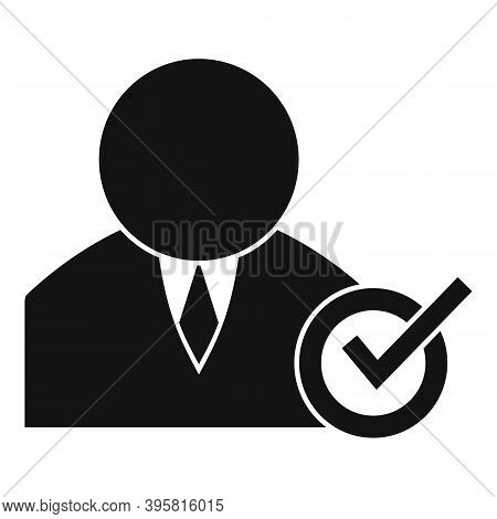 Approved Corporate Worker Icon. Simple Illustration Of Approved Corporate Worker Vector Icon For Web