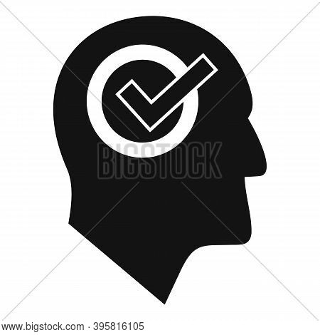 Approved Job Recruiter Icon. Simple Illustration Of Approved Job Recruiter Vector Icon For Web Desig
