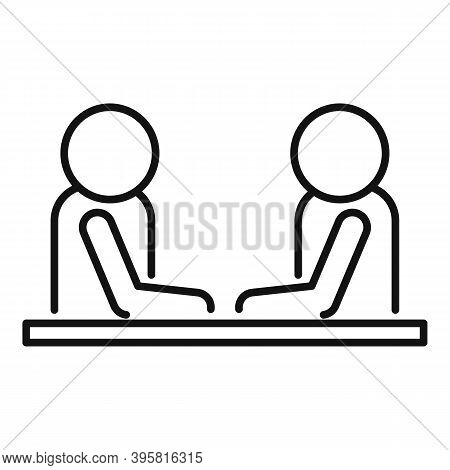 Headhunter Interview Icon. Outline Headhunter Interview Vector Icon For Web Design Isolated On White