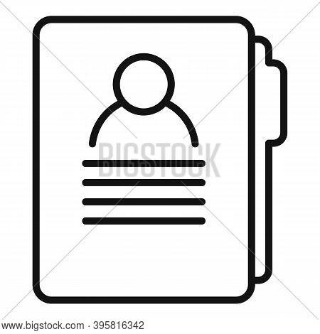 Headhunter Man Folder Icon. Outline Headhunter Man Folder Vector Icon For Web Design Isolated On Whi