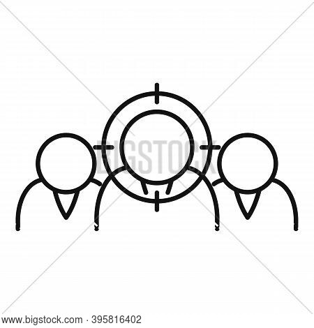 Workforce Target Icon. Outline Workforce Target Vector Icon For Web Design Isolated On White Backgro
