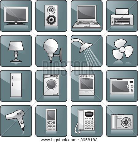 Icon Set - Home Equipment, Appliances