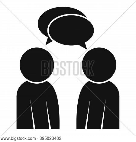 Recruiter Conversation Icon. Simple Illustration Of Recruiter Conversation Vector Icon For Web Desig