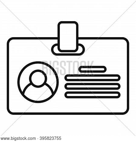 Recruiter Id Card Icon. Outline Recruiter Id Card Vector Icon For Web Design Isolated On White Backg