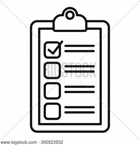 Recruiter Do List Icon. Outline Recruiter Do List Vector Icon For Web Design Isolated On White Backg
