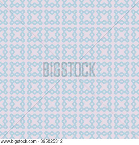 Vector Abstract Seamless Pattern With Curved Shapes. Stylish Geometric Background Texture In Lilac A