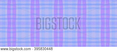Pink Check Plaid. Watercolor Stripe Textile. Modern Textured Wallpaper. Seamless Check Plaid. Britis