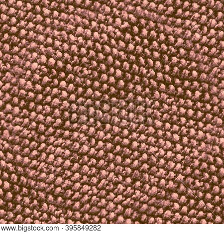 Seamless Wool Texture Pattern. Jacquard Repeat. Brown Knit Pullover. Vintage Xmas Carpet. Beige Wool