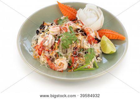 yam wun sen, thai mung bean noodle salad poster