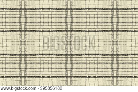 Gray Plaid Pattern. Seamless Check Fabric. Buffalo Twill. Yellow Fashion Celtic Flannel. Fall Plaid