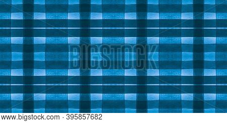 Check Print. Watercolour Tartan Border. Seamless Man Textured Wallpaper. Scotland Texture. White Che