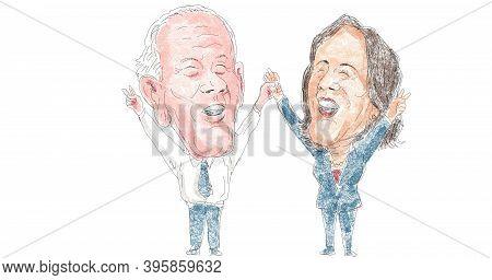 Nov 22, 2020, Auckland, New Zealand: Illustration Of American 46th President Elect Democrat Joe Bide