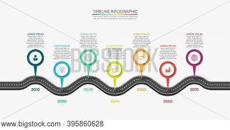 Business Road Map Timeline Infographic Icons Designed For Abstract Background Template Milestone Ele