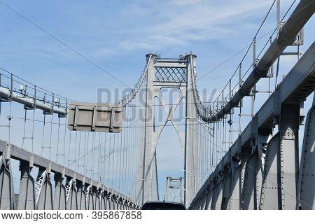 Mid-hudson Bridge In Poughkeepsie, New York Usa