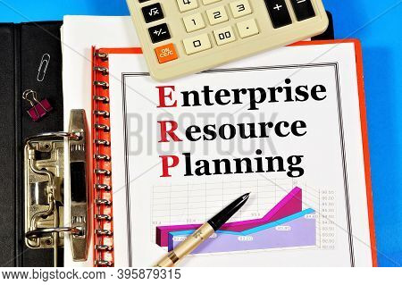 Erp, Enterprise Resource Planning. The Text Label In The Folder Office Of The Registrar. A Method Of
